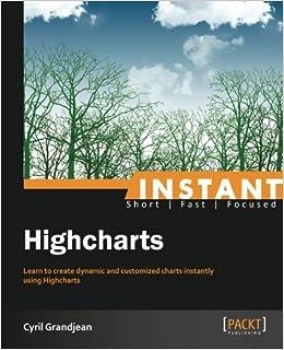 Instant Highcharts: Cyril Grandjean: 9781849697545: Amazon