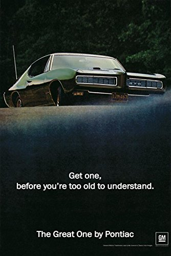 Amazon Com 1968 Pontiac Gto Ad Digitized Re Mastered Car Poster