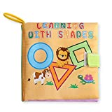 Baby's Non-Toxic Fabric Book Soft Cloth Book, Educational Toy, Baby Shower Gift for Boy and Girl,...
