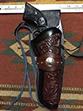 heritage guns - C.O.W.S. Cowboy Burgundy Leather Drop Holster with Floral Scroll Ruger Single Six Heritage Rough Rider