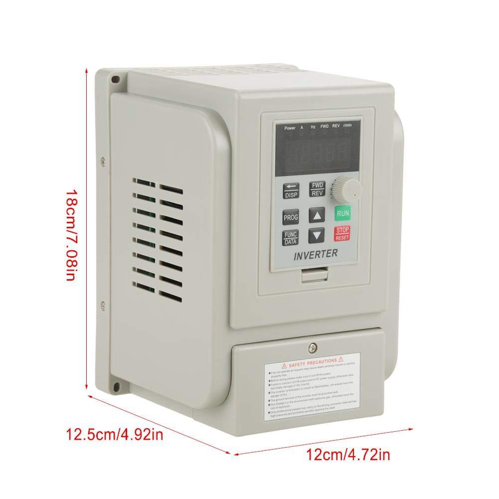 1.5KW AC 220V variateur de fr/équence VFD monophas/é variateur unique variateur de fr/équence 8A r/égulateur de vitesse universel VFD pour moteur triphas/é