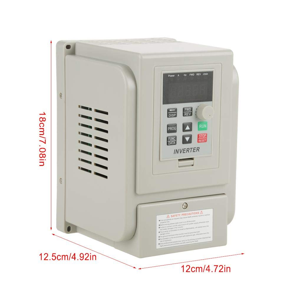 VFD 220V, Single-Phase Variable Frequency Drive,Low Noise Electromagnetic Interference,for 3-Phase 1.5KW AC Motor by Thincol (Image #7)