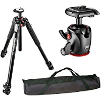 Manfrotto MT055XPRO3 055 Aluminium 3-Section Tripod Kit with MHXPRO-BHQ2 XPRO Magnesium Ball Head and a VidPro 35 inch Tripod Case