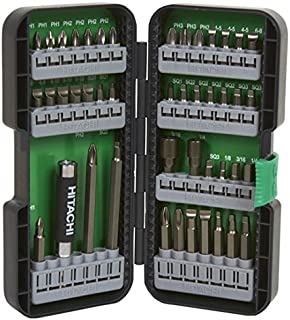 hitachi impact driver set. hitachi 115293 t-steel impact rated driver bit set (45 piece)