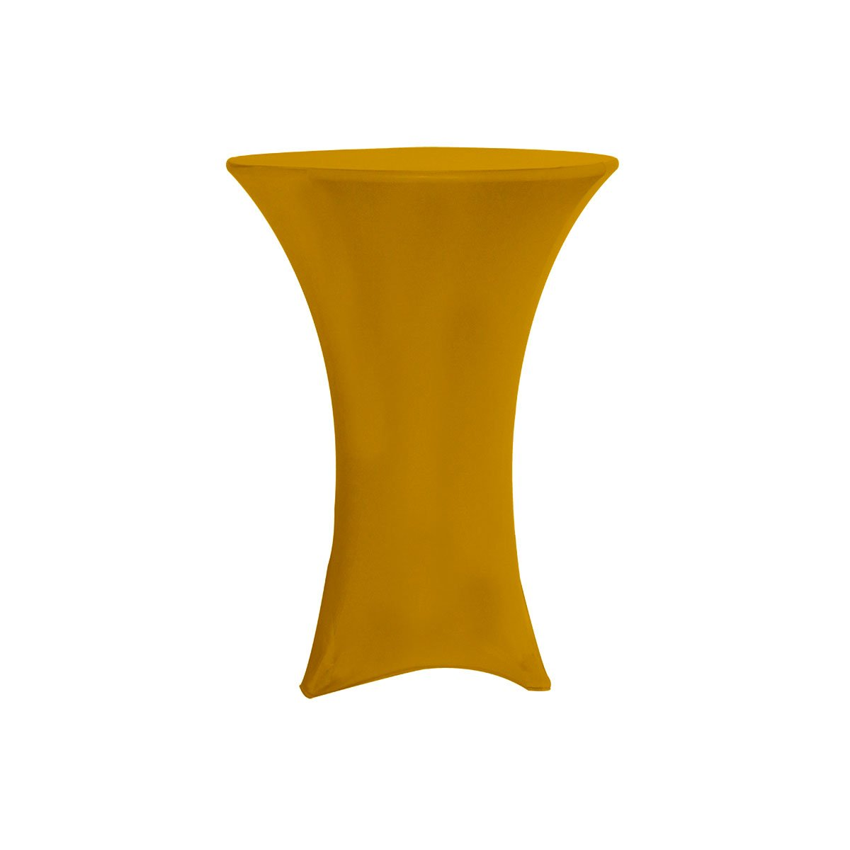 Your Chair Covers - 36 inch Highboy Cocktail Round Stretch Spandex Table Cover Gold