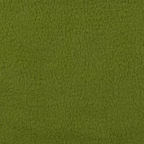 Olive Green Fleece Fabric - By the Yard