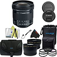 Canon EF-S 10-18mm f/4.5-5.6 IS STM Lens For Canon DSLR Cameras + Pixi-Pro Accessory Kit