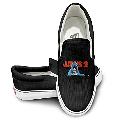 PTCY Jaws 2 Sportstyle Unisex Flat Canvas Shoes Sneaker 36 Black