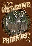 Toland Home Garden Deer Welcome 12.5 x 18-Inch Decorative USA-Produced Garden Flag