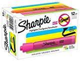 Sharpie 25053 Tank Highlighters, Chisel Tip, Assorted Colors, 46-Count (46-Count)
