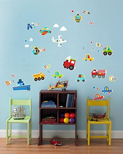 Transportation Room Decorations - Planes Trains Automobile V
