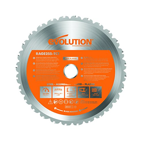 Evolution Power Tools RAGE255Blade Multi-Purpose Cutting Blade for RAGE3, 10-Inch ()