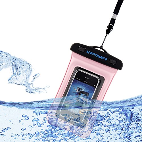 Waterproof Underwater Gdealer Pouch Dry Bag Pack Case Cover for Cell Phone (Compatibile with: iPhone 5s 5c 5 4s 4, Nokia Lumia 1020 920 928, HTC 8X and other SmartPhones less than 4.5 inch) (pink)