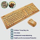 Sengu SG-KG308-N+MG93-N 2.4GHz Bamboo Wireless Keyboard and Mouse