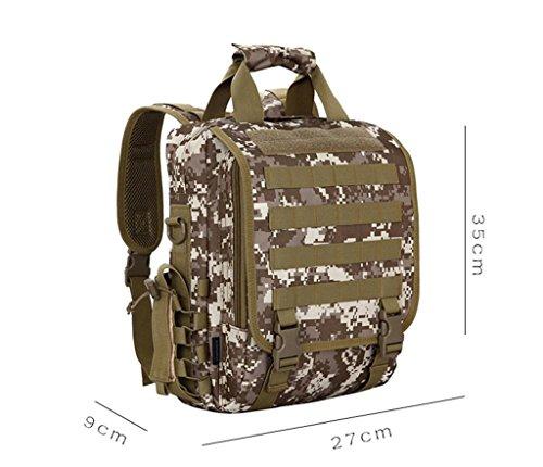 TaoMi- Mochila al aire libre - multiusos ordenador bolso hombro hombres y mujeres camuflaje bolso Messenger bolso bolso al aire libre ( Color : A , Tamaño : 15L ) D