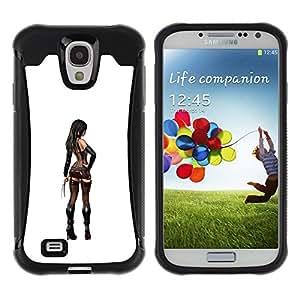 LASTONE PHONE CASE / Suave Silicona Caso Carcasa de Caucho Funda para Samsung Galaxy S4 I9500 / sexy biker lingerie girl stripper woman