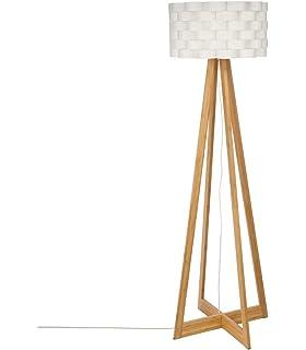 Philips InStyle Gilbert - Lámpara de pie en madera y tulipa ...