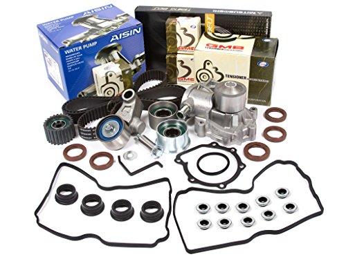 Evergreen TBK307MVCA 00-06 2.5L Subaru Legacy Outback SOHC EJ25 Timing Belt Kit Valve Cover Gasket AISIN Water Pump