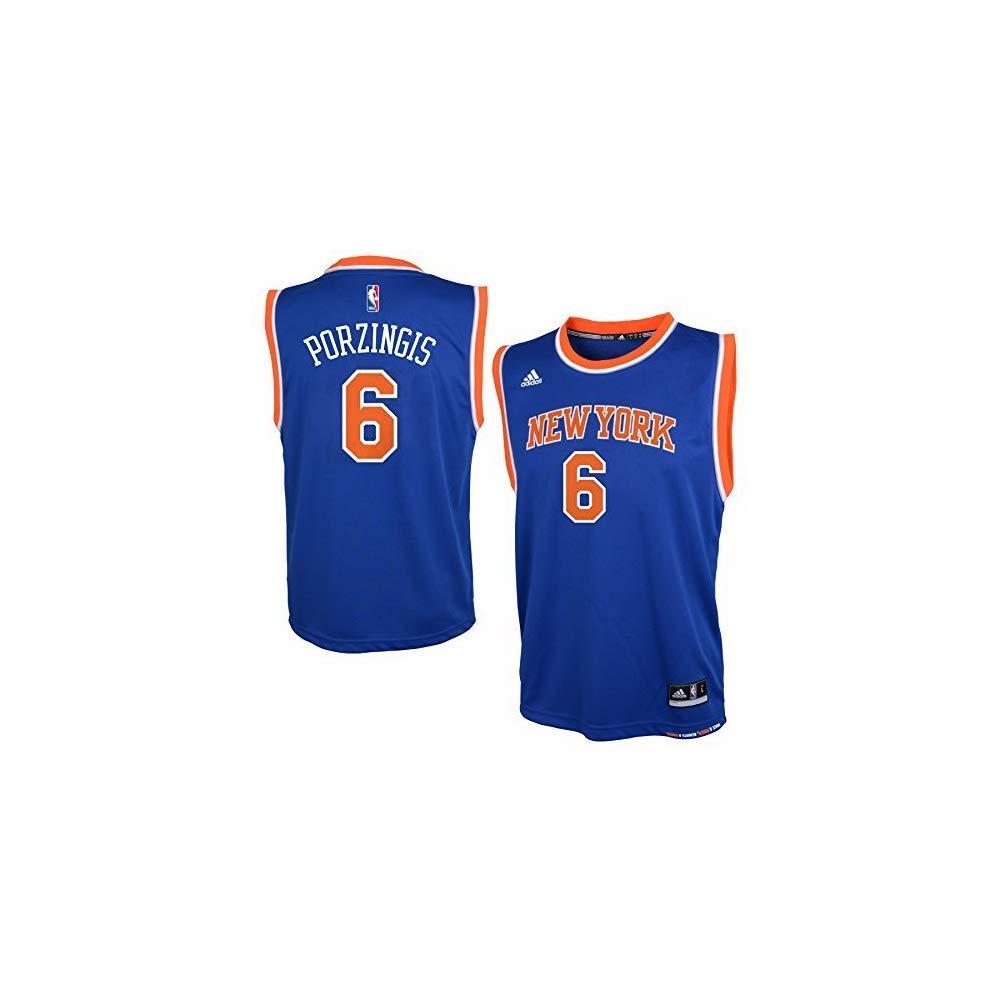 big sale 21311 50f76 adidas Kristaps Porzingis New York Knicks Youth Blue Jersey