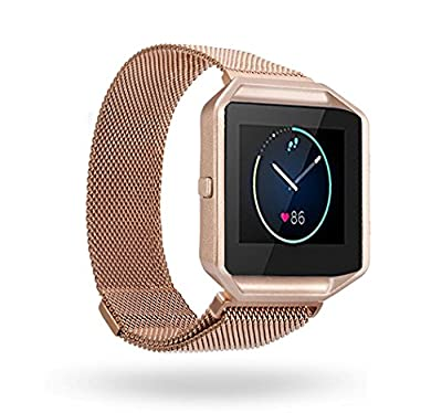 Fitbit Blaze Band, BeneStellar Replacement Large Milanese Band Bracelet Strap for Fitbit Blaze Smart Fitness Watch with Frame