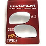 Utopicar Blind Spot Mirrors. Unique Design Car Door Mirrors/Mirror for Blind Side Engineered for Larger Image and Traffic Safety. Awesome Rear View! [Frameless Design] (2 Pack)