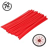 3 pieces 22 in rims - 72Pcs Universal Spoke Skins Covers - Ovelur Wheel Spoke Wraps Skins Pipe Trim Decoration Protector For Motorcycle Dirt Bike Yamaha Honda Harley Suzuki(Red)
