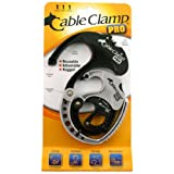 QA Worldwide CCP0180 Cable Clamp PRO Pack, 1 Small Black, 1 Medium Platinum/Black and 1 Large Black/Platinum
