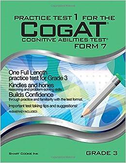Practice Test 1 For The Cogat Form 7 Grade 3 Level 9 Cogat