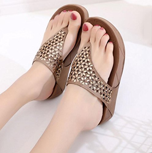 eu3637 40 De Chaussures Pour Épais Sandales Plage Eu Femmes 7 Brown Zhang2 Uk Jetables Chaussons Ix6wxqA7H4