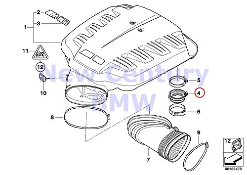 8 X BMW Genuine Intake Manifold System Hose M3 M3 M3 M3 M3 M3 ()