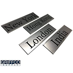 Personalized Name Plate With Wall or Office Desk Holder -- countries