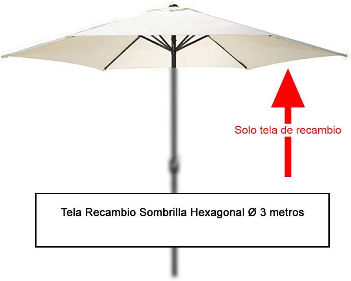 PAPILLON 8091150 Tela Recambio Sombrilla Hexagonal Ø 3 Metros (08091050): Amazon.es: Jardín