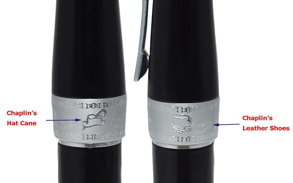 Duke 2009 Charlie Chaplin Fountain Pen Black Laquer Heavy Weight Pen