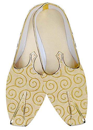 INMONARCH Étnico Amarillo MJ010247 Boda Hombres Zapatos BrHFBq