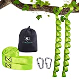 Tree Swing Strap, 5ft Swing Easy Hanging Strap kit, Include 2 Carabiners, Outdoor Adjustable Heavy Duty hammock swing strap, For baby Swing, Toddler Swing, Kids and Adult Swing Strap