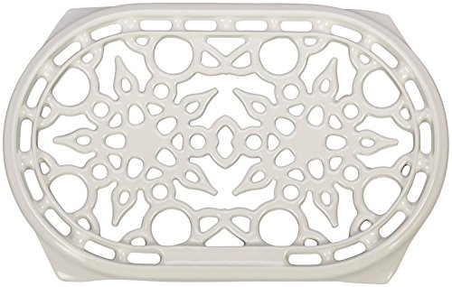 Le Creuset N0300-16 Oval Trivet, 10.5 inch x 6.75 inch, White