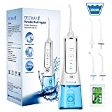 Cordless Water Flosser Teeth Cleaner Water Pick 300ML Rechargeable Oral Irrigator Portable for Teeth Dental Flosser IPX7 Waterproof for Travel and Home Use