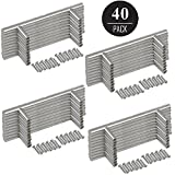 EEEKit 40-pack Stainless Steel Kitchen Cabinet Handles T Bar Pull (6'' Overall Length, 3.7'' Hole Centers), Kitchen Cabinet Hardware, Dresser Drawer Handles