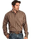 Kyпить Ariat Men's Work FR Plaid Long Sleeve Flame Resistant Shirt Brown Large на Amazon.com