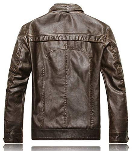Retro Ntel Taglie Inverno Lunghe Classic Buona Finta Colletto In Stand Comode Maniche Biker 2 A Vintage Pelle Autunno Uomo Da Moto Giacca schwarz Abiti RndxYZR
