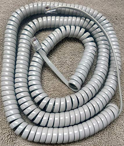 Nortel Platinum (Light) Gray 25' Ft Long Handset Phone Cord for Norstar T Series T7000 T7100 T7208 T7316 T7316E and Meridian Aastra M3900 M3901 M3902 M3903 M3904 M3905 with 6