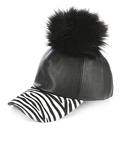 8f00ee474b6 Image Unavailable. Image not available for. Color  Faux Fur Pom Pom  Baseball Cap in Faux Suede ...