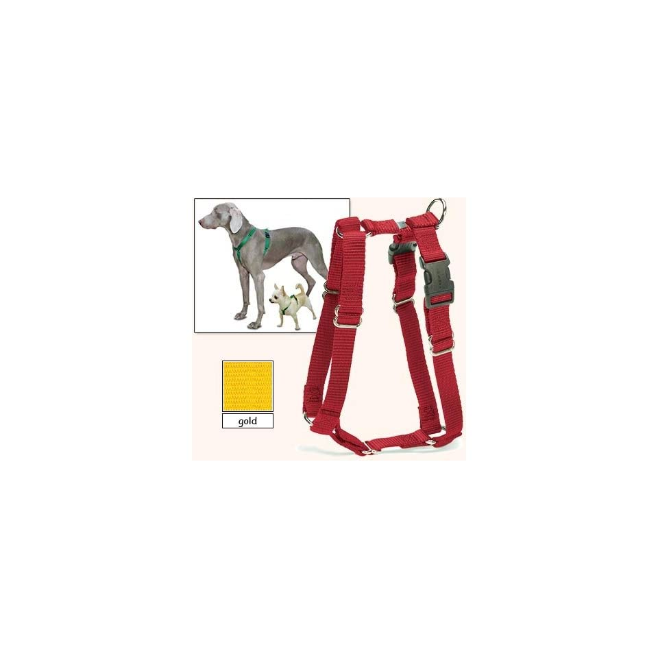 Sure Fit Dog Harness, 5 Way Adjustability for a Perfect Fit (Gold, X Petit)