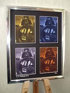 Darth Vader impresionante firmado Pop Art enmarcado lienzo