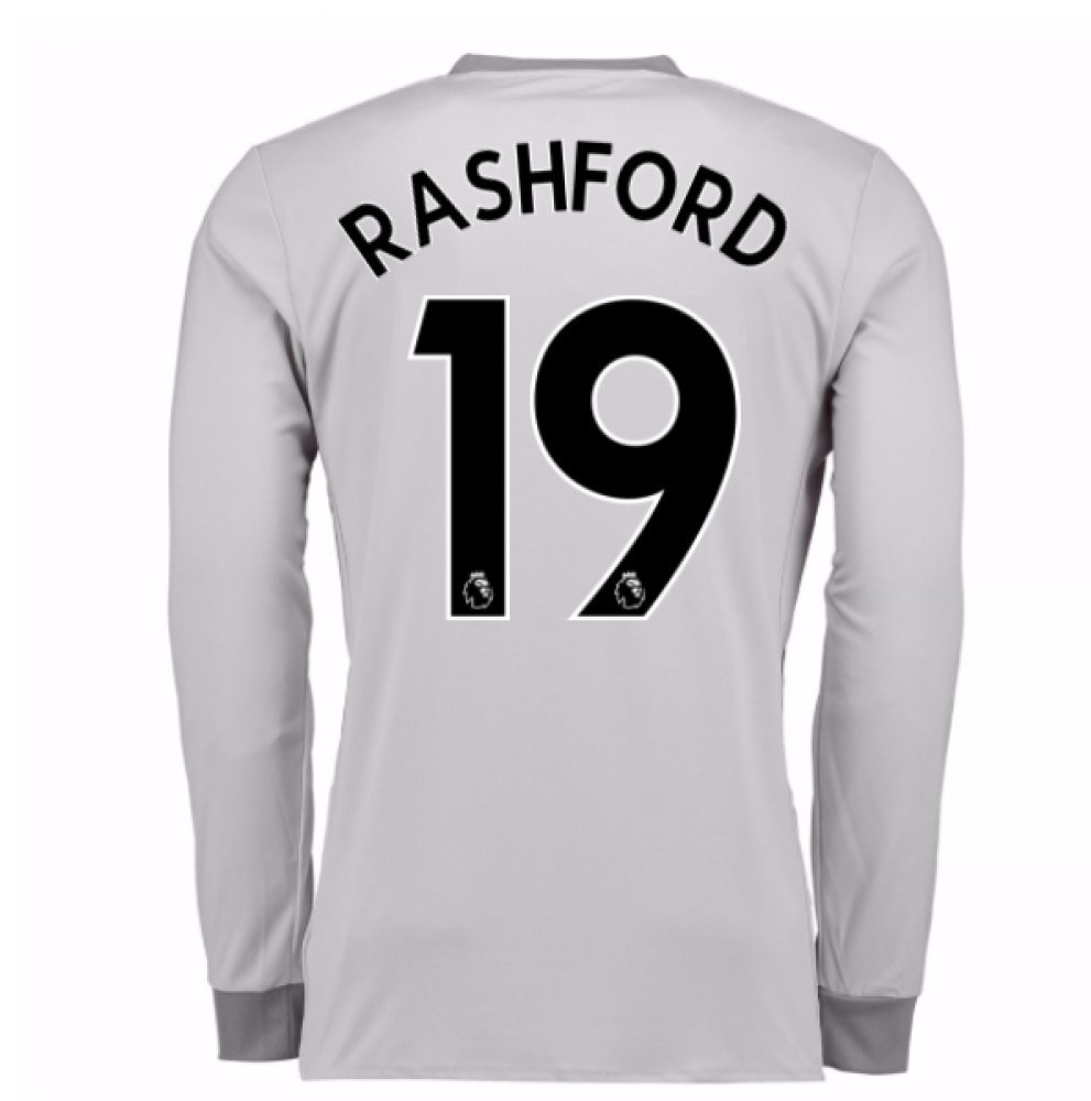 2017-2018 Man United Long Sleeve Third Football Soccer T-Shirt Trikot (Marcus Rashford 19)