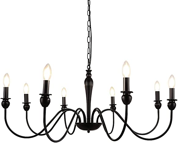 WBinDX 8-Light Farmhouse Chandelier