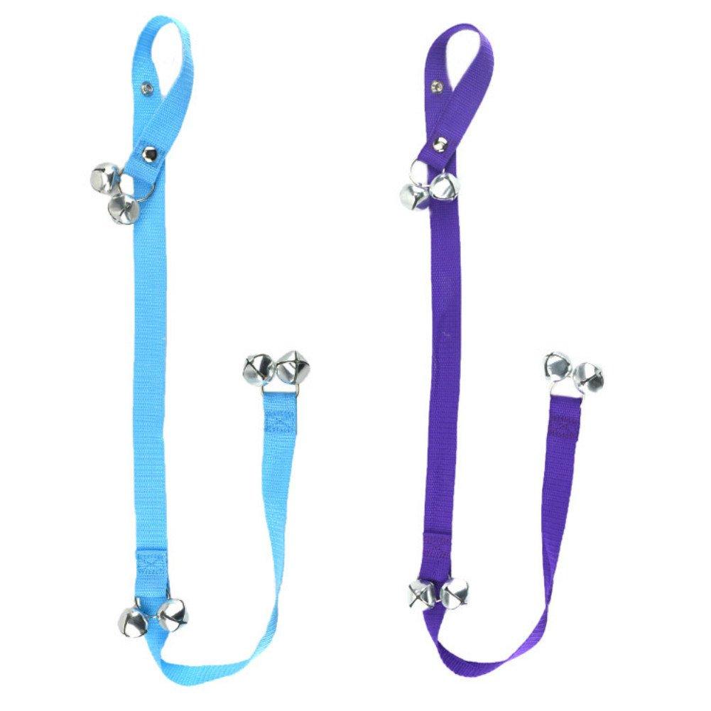 Fairy Pet Housetraining Potty Bells Dog Adjustable Doorbells for Housebreaking Train, Set of 2 (Blue and Purple)