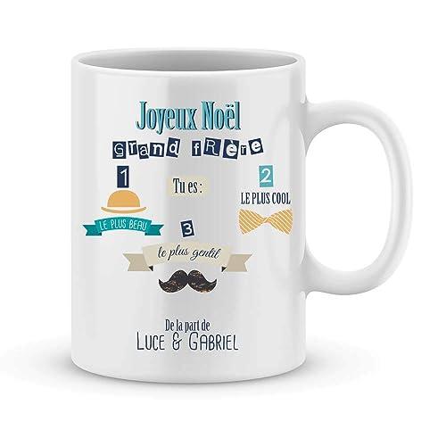 Mug GRAND FRERE à personnaliser avec le prénom de votre choix