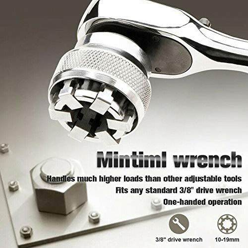 RanDal / R/églable 10-19Mm Socket Pro Magical Socket Wrench Mintiml Wrench Accessoires De Remplacement