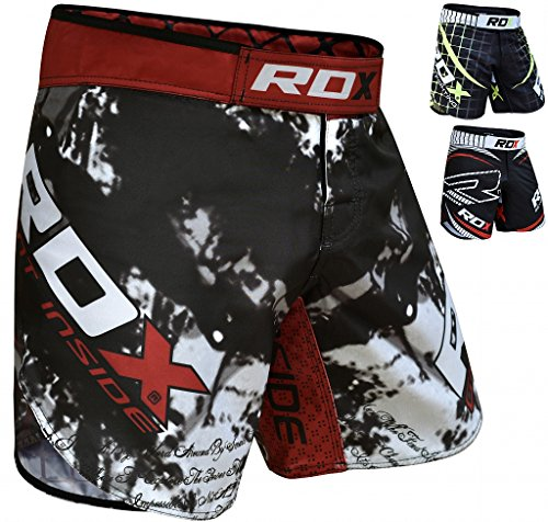 ining UFC Shorts Cage Fighting Grappling Martial Arts Boxing Muay Thai Kickboxing,Black,2X-Large ()